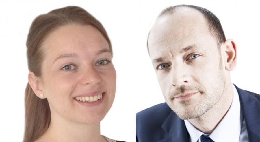 Astrid Poulsen og Stefan Hermann, hhv. lærerstuderende og rektor, Metropol
