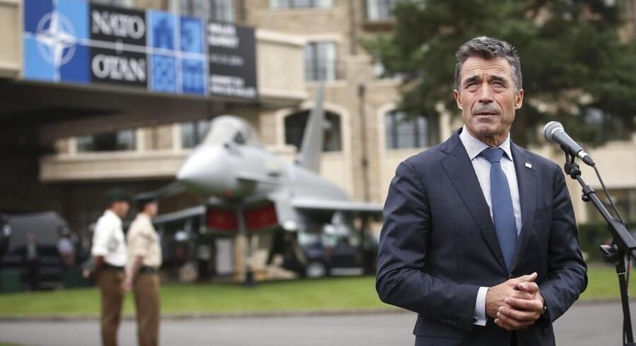 NATOs generalsekretær, Anders Fogh Rasmussen, da han talte til pressen torsdag formiddag i Wales, hvor der er topmøde til og med fredag.