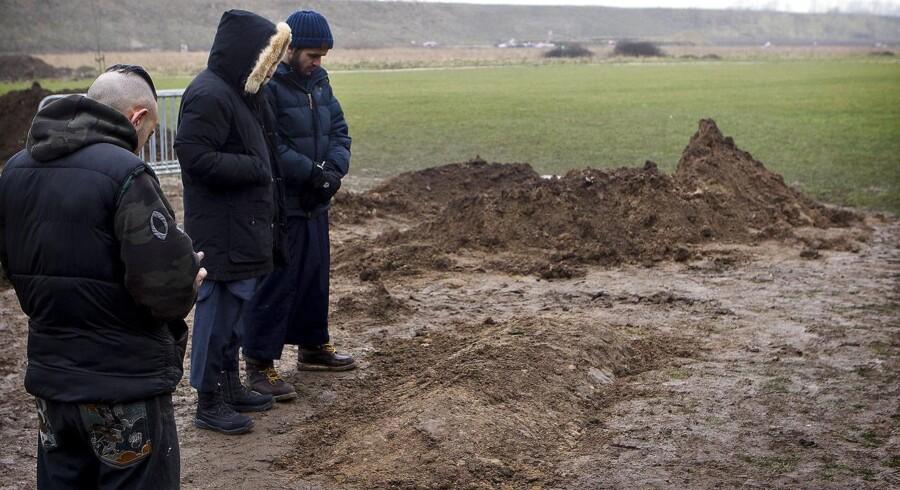 ARKIVFOTO. Fredag den 20. februar var der mindehøjtidelighed på Dortheavej for Omar Abdel Hamid El-Hussein, før et begravelsesoptog kørte mod den muslimske gravplads i Brøndby.
