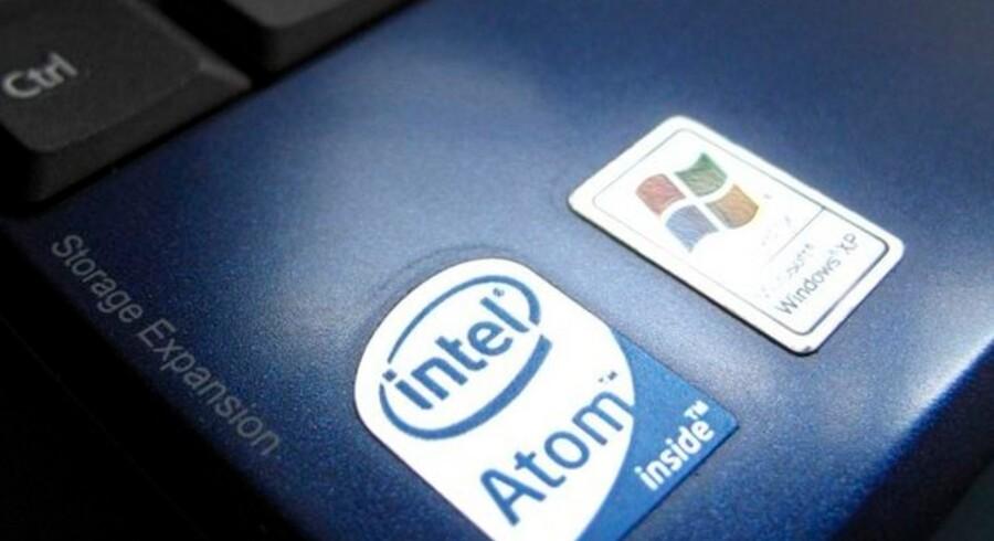 Computerchipproducenten Intel betalte PC-fabrikanterne for at holde konkurrenten AMD ude af deres maskiner, mener EU. Foto: Mike Blake, Reuters/Scanpix