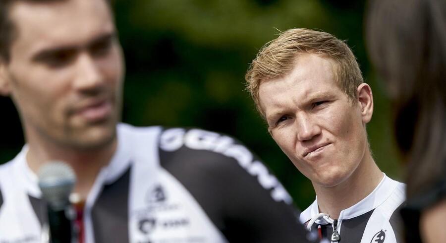 Søren Kragh Andersen bag Tom Dumoulin begge fra Team Sunweb. (Foto: Claus Bonnerup/Ritzau Scanpix)
