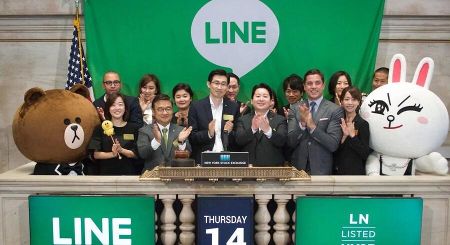 New York Stock Exchange da japanske Line blev børsnoteret.