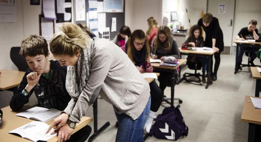 ARKIVFOTO. En ny undersøgelse fra Danmarks Lærerforening viser, at to ud af tre lærere har overvejet at forlade faget inden for det seneste år.