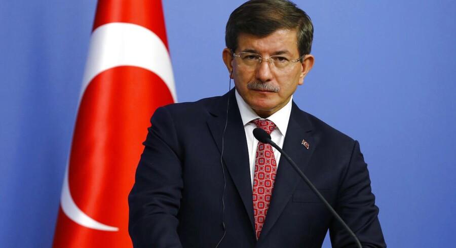 Tyrkiets premierminister Ahmet Davutoglu.