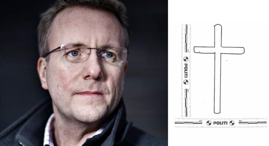 Morten Bødskov bemærkede en korstatovering på sin overfaldsmands arm. Politiet har nu sendt en tegning ud af korstatoveringen.