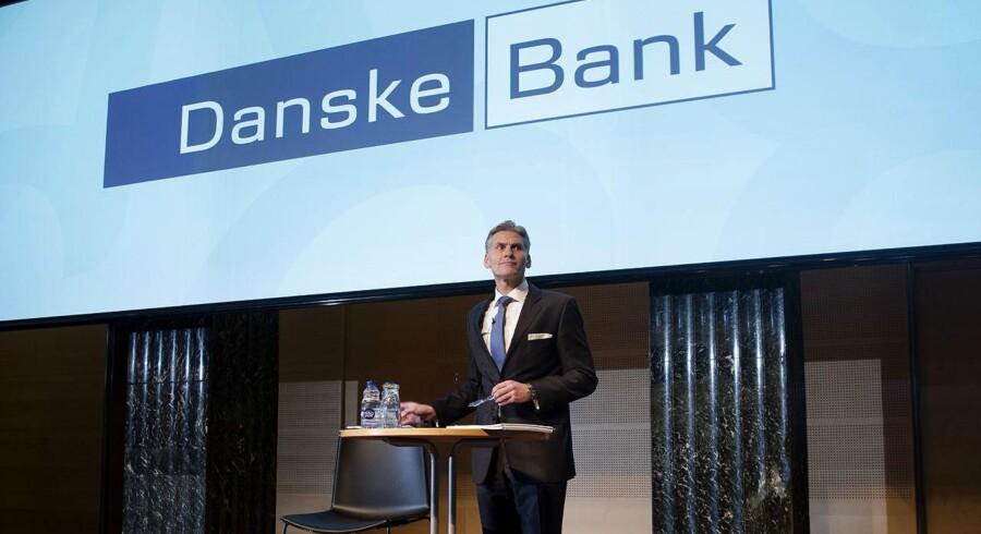 Danske Bank ved Thomas F. Borgen fremlægger årsregnskab i Kuppelsalen 2. februar 2016.