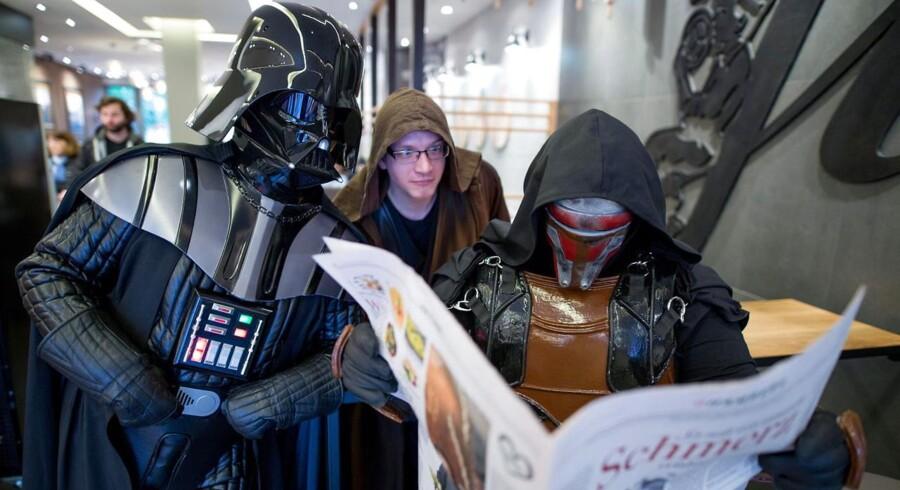 Tre medlemmer af en tysk Star Wars-fanklub