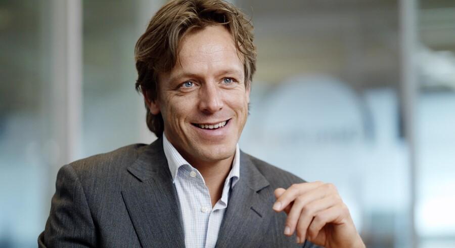 GPS-producenten TomToms europaansvarlige salgsdirektør, Diederik Nederlof, kan ikke mærke konkurrencen fra Nokia og Google. Foto: TomTom