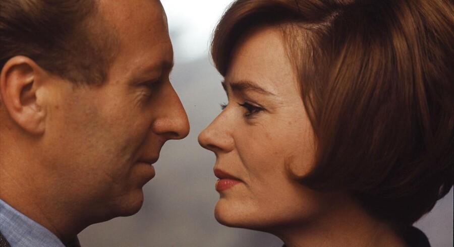 Skuespillerparret Henning Moritzen og Lsie Ringehim i 1971, det år, det populære par fik papir på hinanden.