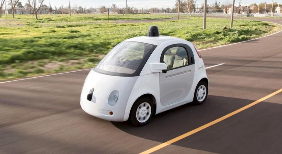 Googles foreløbig bud på en selvkørende bil.