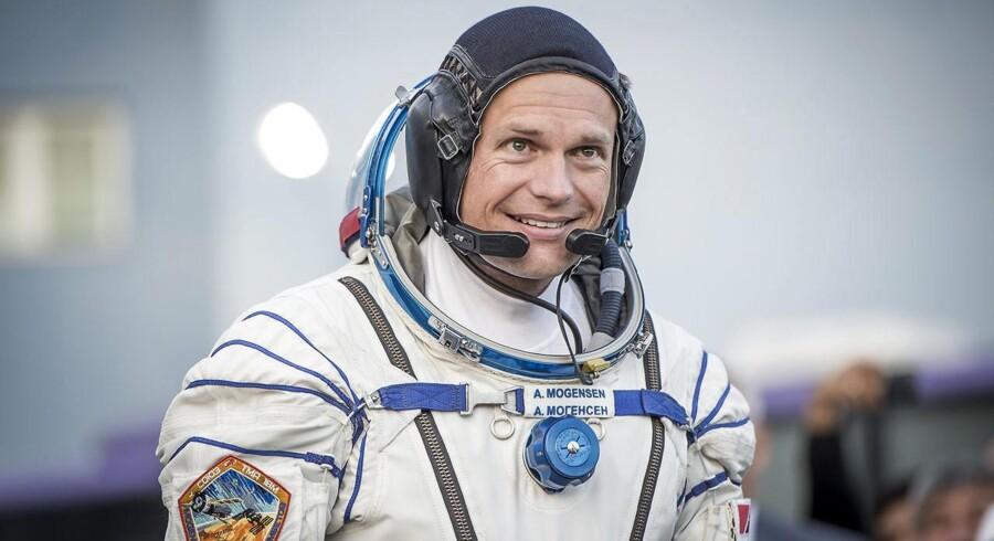 Andreas Mogensen talte til danskerne fra rummet lørdag aften.