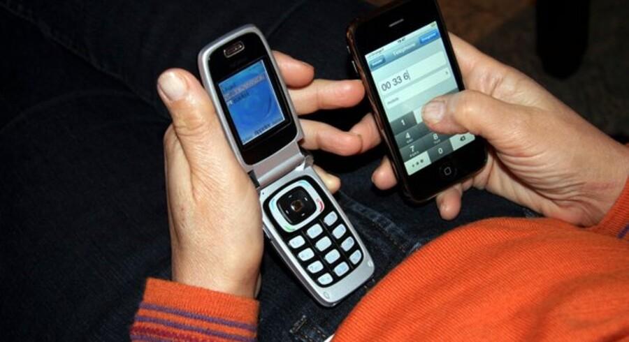 Der var lagt op til en særskat på 14 procent oven i prisen på mobiltelefoner i EU. Foto: Colourbox