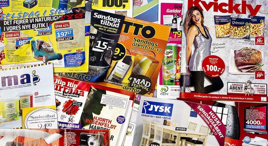 Reklamer og tilbudsaviser.