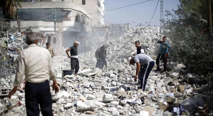 Oprydningen efter sommeres 50 dage lange krig i Gaza vil koste milliarder af kroner og stå på i årevis. Foto: Mohammed Abed