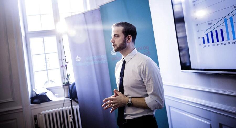 Der er ifølge økonomiminister Morten Østergaard (R) gode grunde til at være optimistisk på dansk økonomis vegne. Det understreger han ved torsdagens præsentation af Økonomisk Redegørelse.
