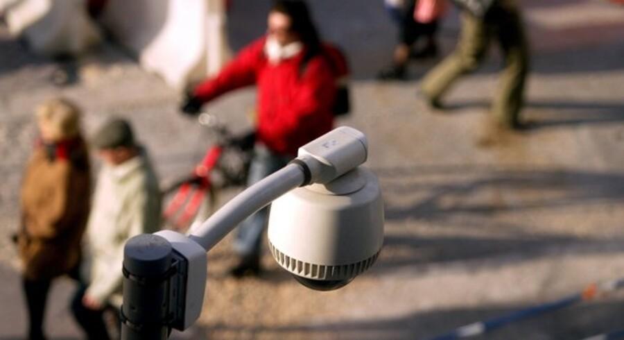 Overvågningskameraer bliver mere og mere almindelige, også i bybilledet. Foto: Colourbox
