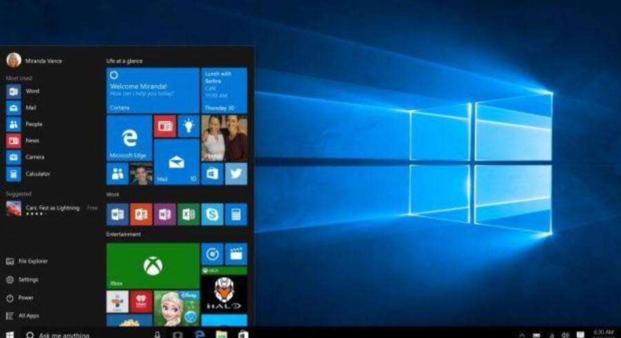 Windows 10, som kom i juli, får nu den første, større opdatering, som dog mest er mindre forbedringer og rettelser over en bred kam. Foto: Microsoft