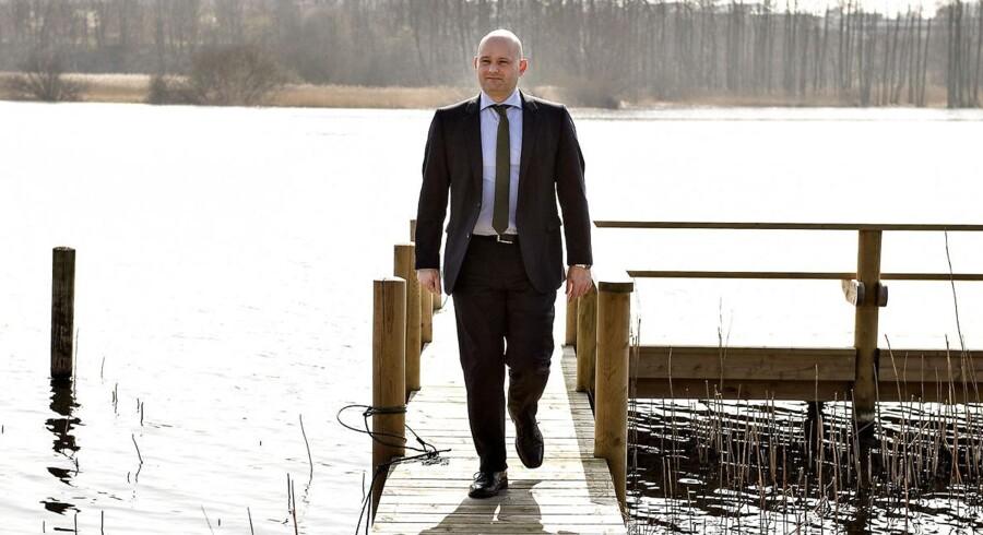 Søren Pape Poulsen, formand for Konservative, fotograferet ved en af Silkeborgs søer.