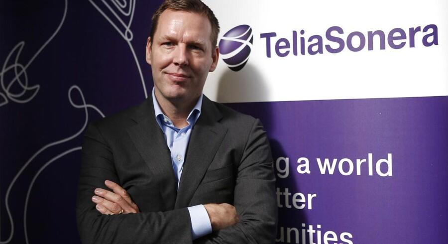 Telias topchef gennem det seneste år, Johan Dennelind, tror fortsat på, at det kan lykkes at rydde op, så også forretninger i vækstområder som Centralasien kan gøres på et etisk forsvarligt grundlag. Arkivfoto: Albert Gea, Reuters/Scanpix