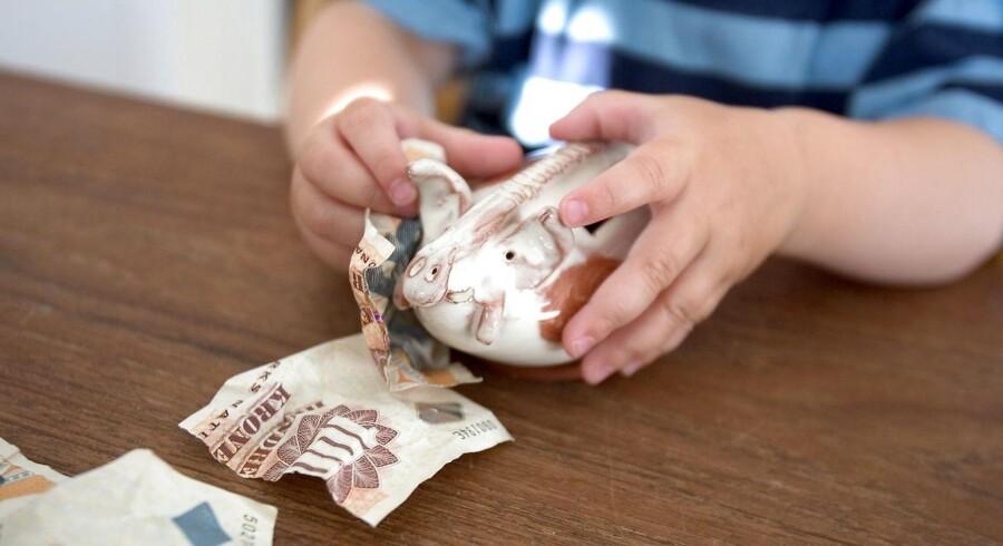 Børneopsparingen udbetales typisk, når de unge er mellem 18 og 21 år, men hvor meget, der står på kontoen, er meget forskelligt. (Foto: Søren Bidstrup/Scanpix 2016)