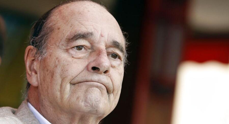 Jacques Chirac, der både har været præsident og premierminister ønskede, at Danmark skulle købe Miragefly i 1974. Foto: Sebastian Nogier/AFP