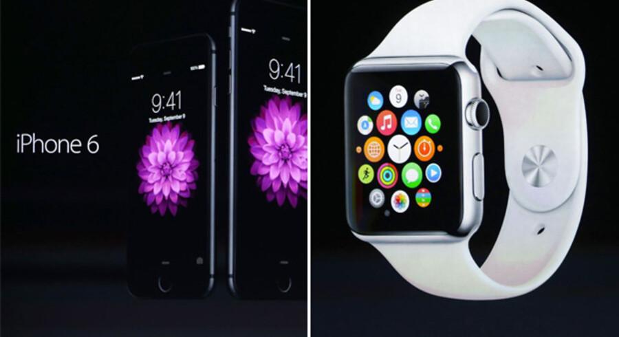 Teknologigiganten Apple kunne under tirsdagens præsentation af de seneste nyheder som ventet fremvise to nye iPhone 6-modeller, hvor den ene kommer i en Plus-model med en skærm på 5,7 tommer.  De nye iPhone 6-modeller følger begge den trend, der tegner mobilmoden pt. med større skærme. Mens storebror iPhone 6 Plus indtager den såkaldte phablet-kategori med en skærm på 5,5 tommer, er iPhone 6 udstyret med en skærm på 4,7 tommer.  Telefonerne vil have en tykkelse på 6,9 mm og 7,1 mm modsat den tidligere 5s model, der var 7,6 mm tyk. Apple har udviklet en ny »gesture teknologi«, så telefonerne nemmere kan bruges med en hånd. Den nye telefon er 25% hurtigere end iPhone 5s-modellen. Batteriet er også opdateret i den nye model, og Apple forventer en standby-tid på op til 60 timer for iPhone 6 og 80 timer for iPhone 6 plus mellem hver opladning.  Læs også: Nu kommer Apple også med en megamobil