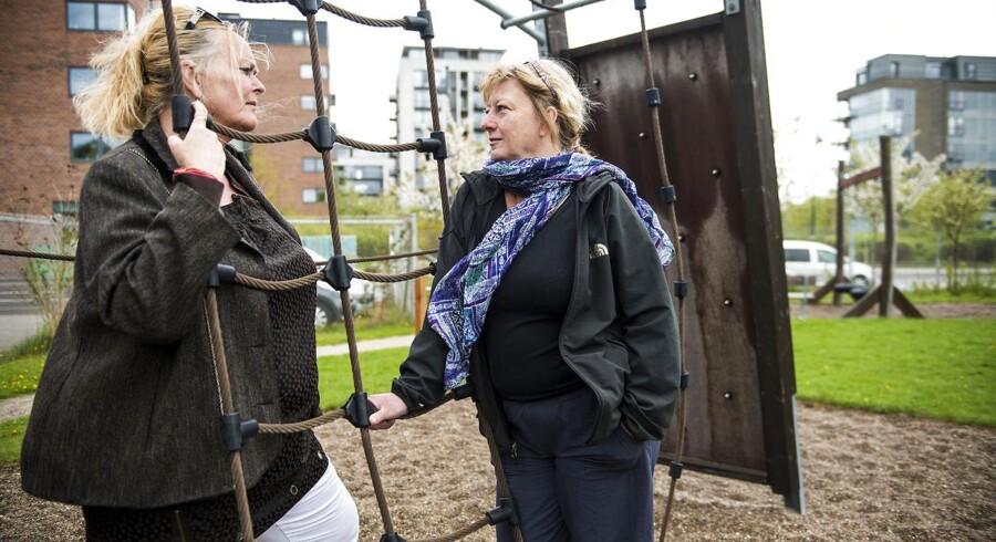 Pædagog Jette Bødskov og leder Lene Zøllner fra institutionen Hvalen på Islands Brygge i København. Om sygefravær. Drømmeland