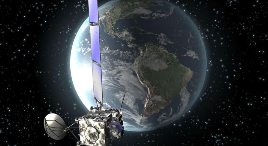 Satellitnavigation er populær, men det sker nu mere og mere fra mobiltelefoner. Arkivfoto: Scanpix