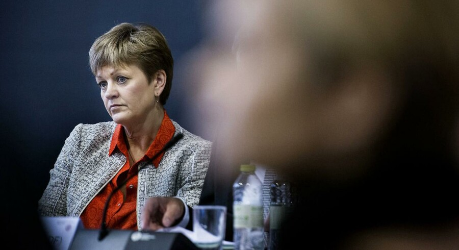 Høring med Eva Kjer Hansen på Christiansborg.