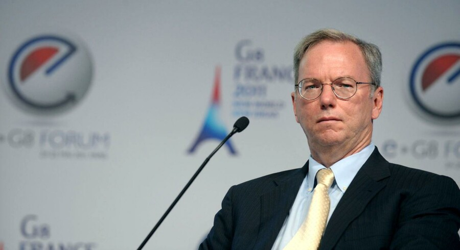 Eric Schmidt under G8 møde i Frankrig i maj måned.ONT