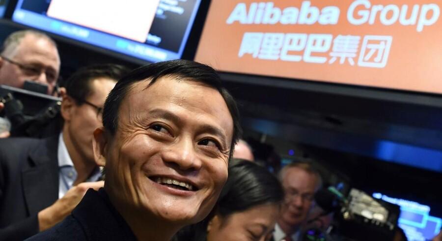 Jack Ma, da hans virksomhed Alibaba Group i september gik på børsen.