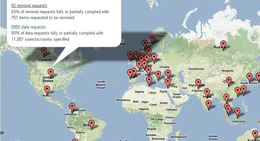 Googles Transparency Report viser, hvor meget indhold Google fjerner på vegne af regeringer