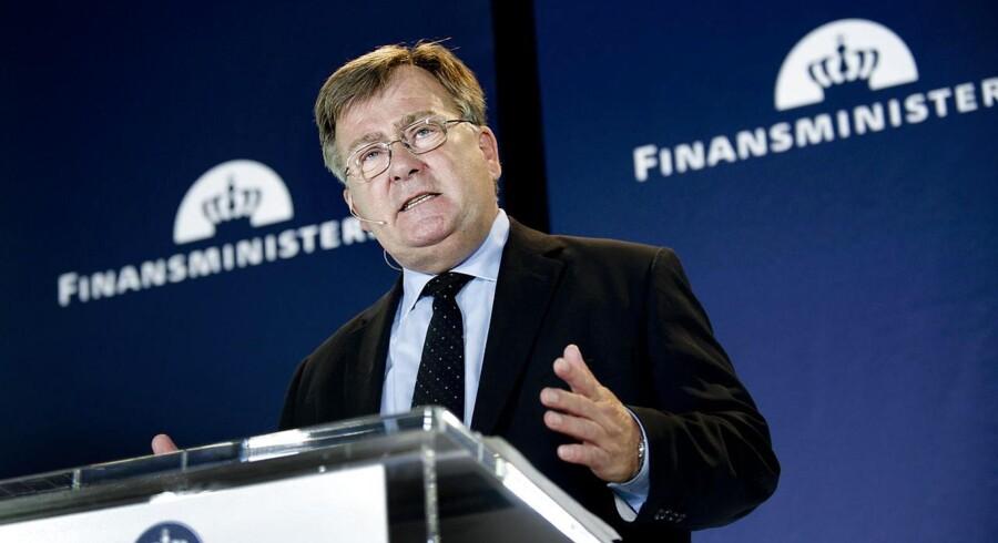 ARKIVFOTO. Finansminister Claus Hjort Frederiksen (V) fremlægger mandag regeringens økonomiske redegørelse.