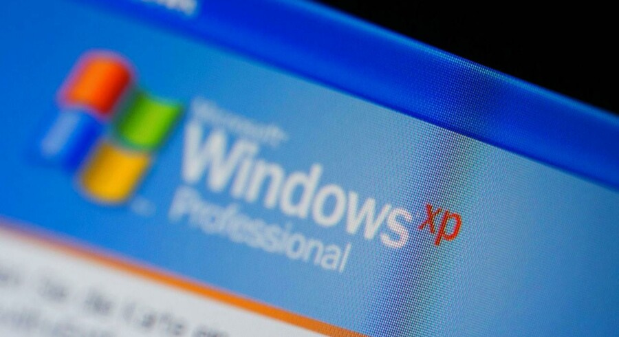 Windows XP var ellers blevet aflivet af Microsoft for en måned siden, men nu kommer der alligevel en ekstra opdatering. PCer med Windows XP virker fortsat i uændret omfang, det er blot slut med sikkerhedsopdateringer til systemet. Arkivfoto: Jens Büttner, EPA/Scanpix