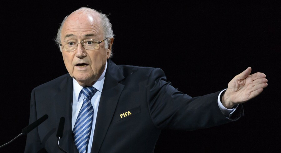 FIFA President Sepp Blatter delivers his speech at the opening of the 65th FIFA Congress in Zurich on May 29, 2015. FIFA president Sepp Blatter heads into a re-election vote amid FIFA's corruption scandal on May 29, 2015 adamant that only he can clean up the world's most popular sport, to the dismay of critics who want to issue a red card to his 17-year rule. AFP PHOTO / FABRICE COFFRINI