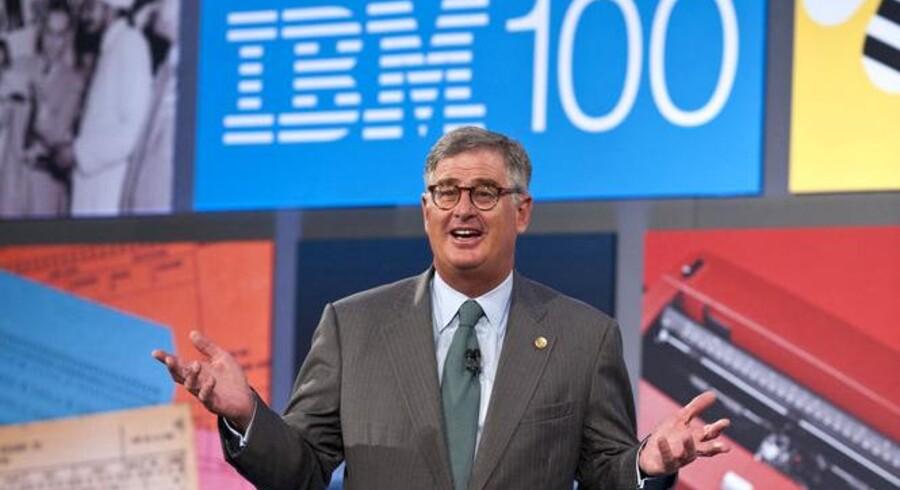 IBMs topchef, Sam Palmisano, runder jubilæumsåret af med et godt regnskab. Arkivfoto: Graham Carlow, Reuters/Scanpix
