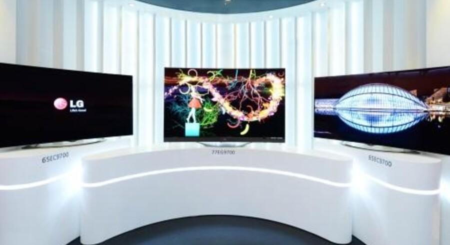OLED-skærmteknologien sikrer et langt bedre billede, mens ultra-HD-opløsning på skærmen er fire gange højere end på et fjernsyn med fuld-HD. LG satser nu på at få et egentligt salg i gang af de bedre men også langt dyrere fladskærme. Foto: LG