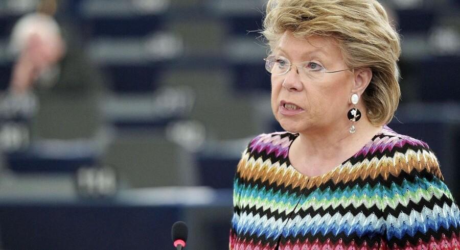 EUs justits- og menneskerettighedskommissær, Viviane Reding, kræver en forklaring af de amerikanske myndigheder på den mulige, omfattende overvågning af europæere. Foto: Frederick Florin, AFP/Scanpix