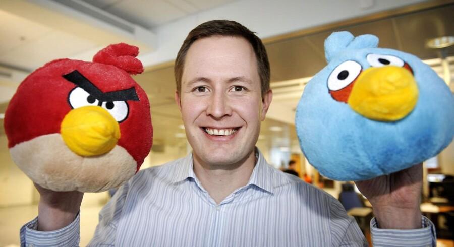 Finnerne bag Angry Birds sagde ja til at hjælpe en australsk mand til at fri til sin kæreste gennem det populære spil. Her CEO hos Rovio, Mikael Hed.