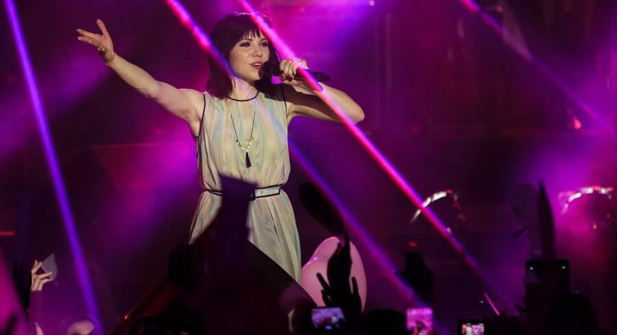 Den canadiske sanger Carly Rae Jepsen optræder ved MTV World Stage i Malaysia tidligere på måneden. Foto: Fazry Ismail/EPA