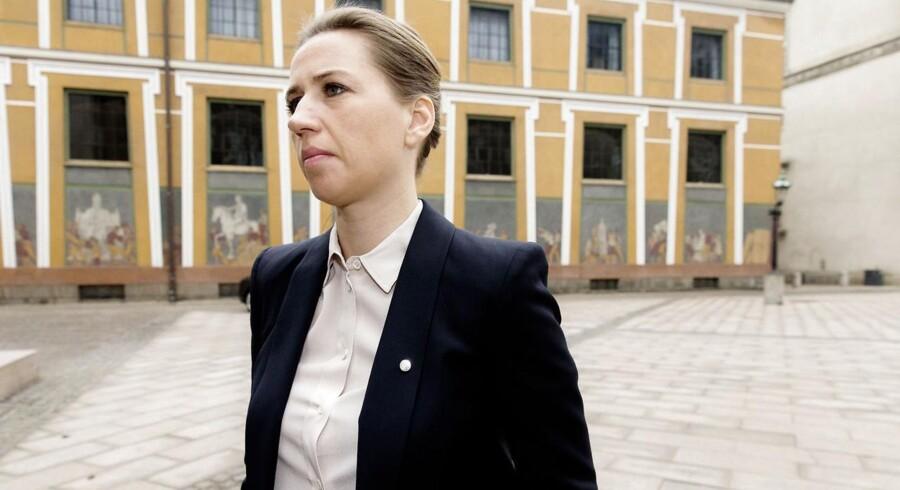 Partilederne mødes i dag i Statsministeriet, vil de blive orienteret om det seneste nye i terrorsagen. Mette Frederiksen.