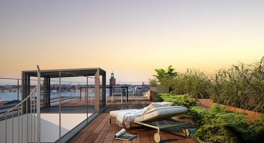 Den svenske luksuslejlighed består af to lejligheder, der er slået sammen, og er købt af én person. Samlet set breder den sig ud over 418 kvadratmeter.