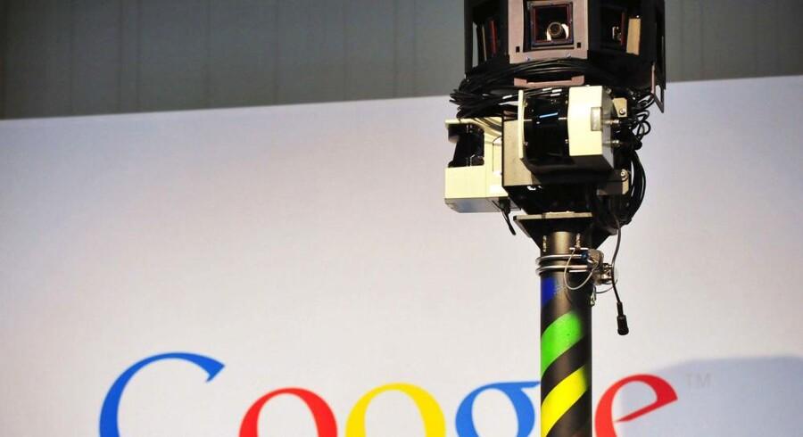 Googles fotovogne aflyttede massevis af private, trådløse net på deres færd rundt i også Danmark. Arkivfoto: Daniel Mihailescu, AFP/Scanpix