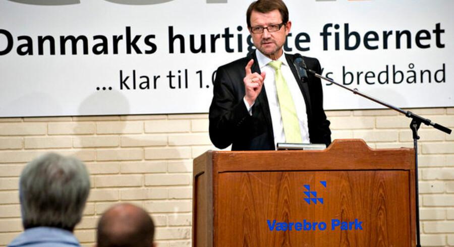 Der er ingen løftede pegefingre fra videnskabsminister Helge Sander (V), hvis TDC vil købe DONGs fibernet i Nordsjælland. Foto: Casper Christoffersen, Scanpix