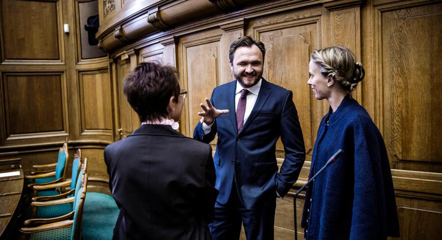 Folketingets åbning tirsdag d. 7. oktober 2014. Fødevareminister Dan Jørgensen fra Socialdemokraterne. (Foto: Thomas Lekfeldt/Scanpix 2014)