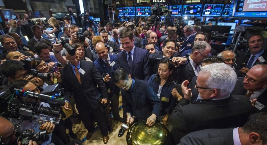 Alibaba-stifteren Jack Ma ringer fredag børshandelen i gang på New York Stock Exchange