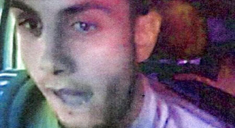 22-årige Omar El-Hussein har tidligere har været efterlyst af politiet i forbindelse med et knivstikkeri i 2013, hvor politiet udsendte dette billede. Han var ikke psykisk syg, viser en personundersøgelse fra 2013.