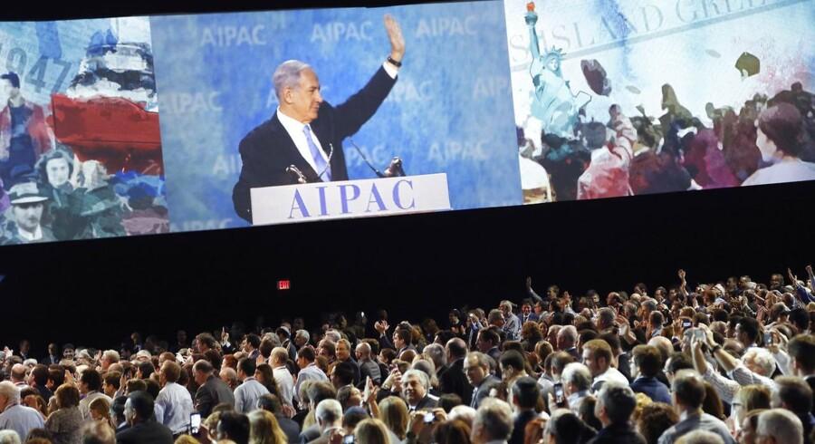 Benjamin Netanyahu talte i USA til israelske vælgere. Foto: Jonatham Ernst/Reuters