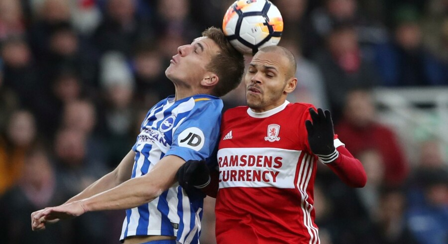 Martin Braithwaite og Middesbrough er ude af FA Cuppen efter nederlag hjemme til Brighton. Reuters/Scott Heppell