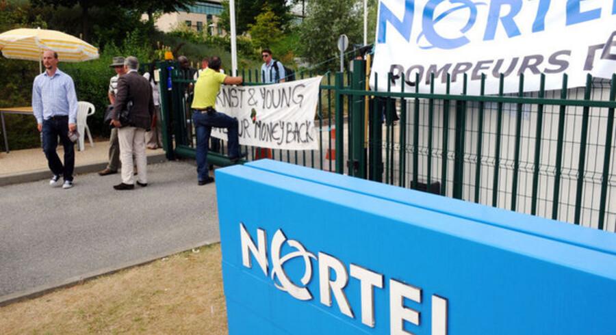 Lukningen af Nortel, der engang var Canadas største virksomhed har udløst strejker over hele verden. Her i Frankrig.